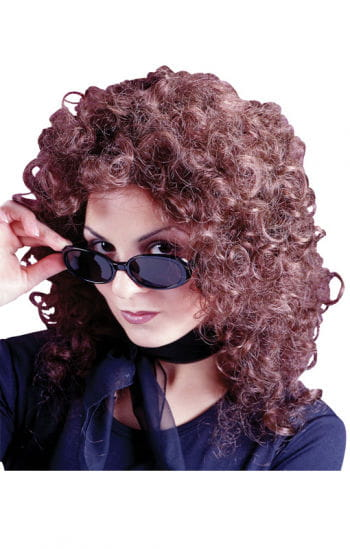 Party wig curly brown