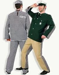 Polizei Sträfling Kostüm
