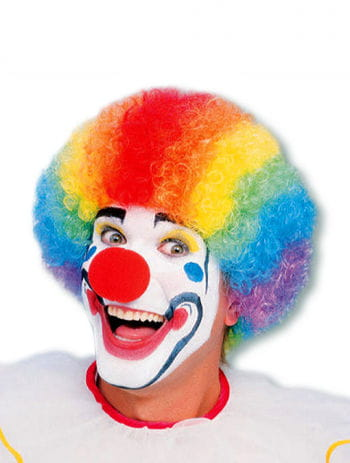 Colorful clown wig