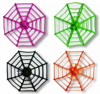 Colorful cobwebs 12 pieces