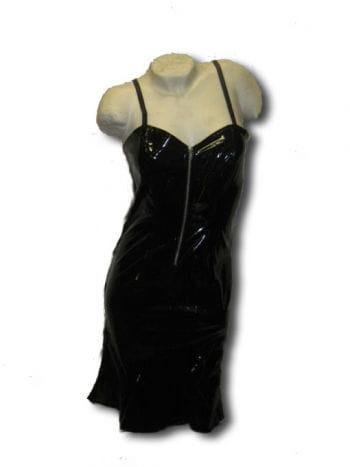 Gothic Lack Kleid schwarz Gr large