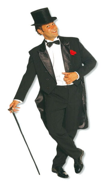 Cabaret Costume for Men black XL