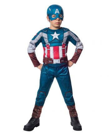 Captain America costume with muscles