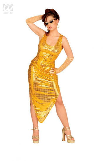 Celebrity Pailletten Kleid gold