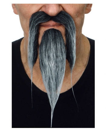 Chinese beard black gray
