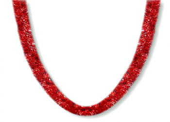Christmas garland red