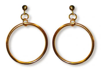 Hoop Clip On Earrings Gold