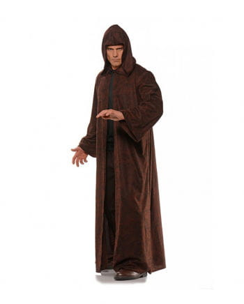 Brown-black mottled costume coat with hood