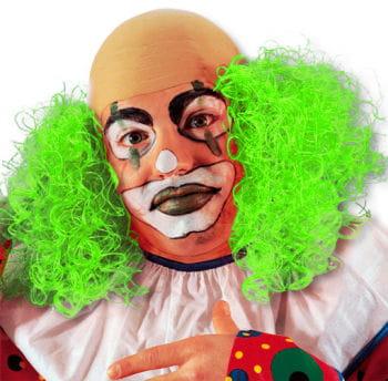 Clown Perücke mit grünem Haar