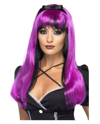 Cosplay witch wig pink / black