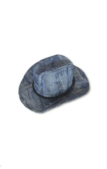 Cowboy hat jeans look blue