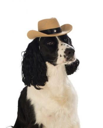 Brauner Cowboyhut für Hunde