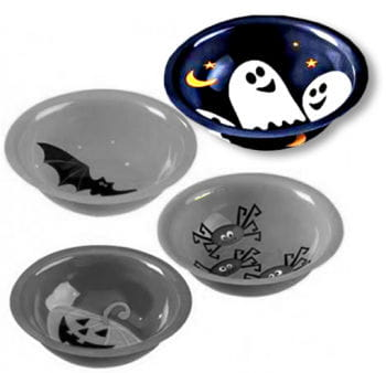 Ghosts Plastic Bowl black