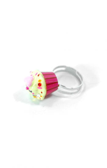 Cupcake Ring Pink Yellow