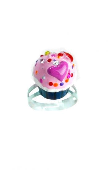 Cupcake Ring Blau Rosa
