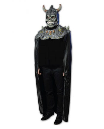 Dämonen Ritter Maske mit Umhang