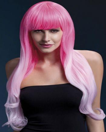 Damen Perücke Emily pink