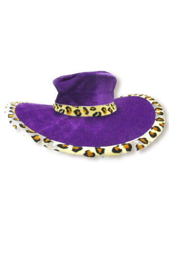 Ladies hat purple