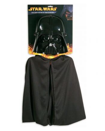 Darth Vader Halbmaske mit Umhang