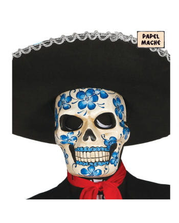 Day of the Dead Maske mit Blumenmotiv