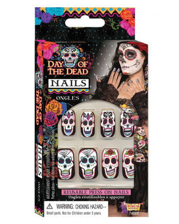 Day of the Dead Fingernägel