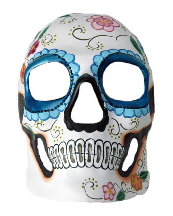 Day of the Dead Skull Maske Blumenrelief
