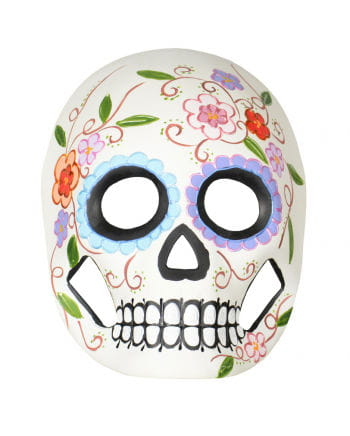 Day of the Dead Maske mit Blumen & Ranken