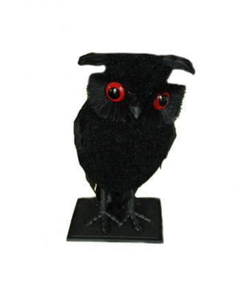 Deco black owl