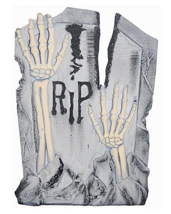 Grave stone RIP skeleton arms