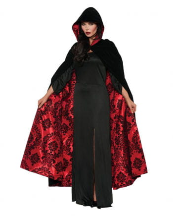 Deluxe Satin Velvet Cape Black / Red