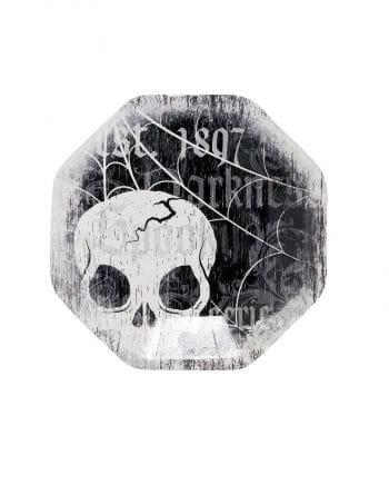 Dessert plate with Skull