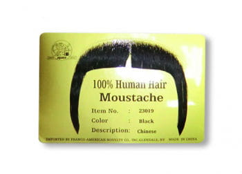 Real Hair Moustache Chinese Black