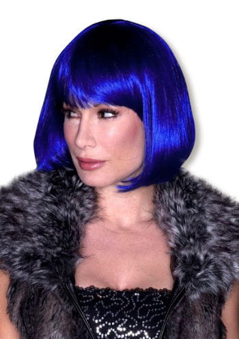 Human Hair Wig Blue