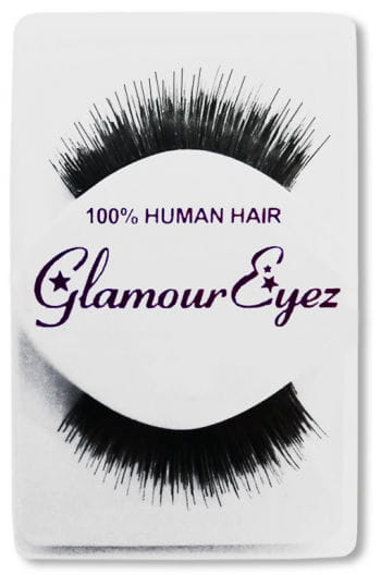 Human Hair Eyelashes Black Thin