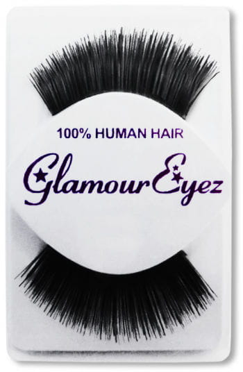Human Hair Eyelashes Black Long