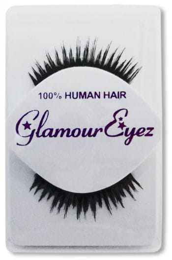 Human Hair Eyelashes Black Jagged