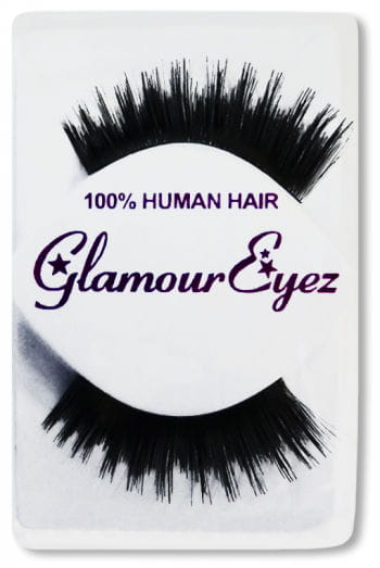 Human Hair Eyelashes Black Layered