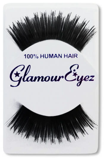 Human Hair Eyelashes Black Layered Long