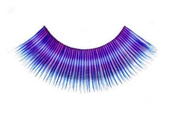 Real Hair Eyelashes Pink Blue