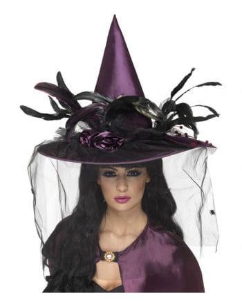 Edler Hexenhut violett schwarz
