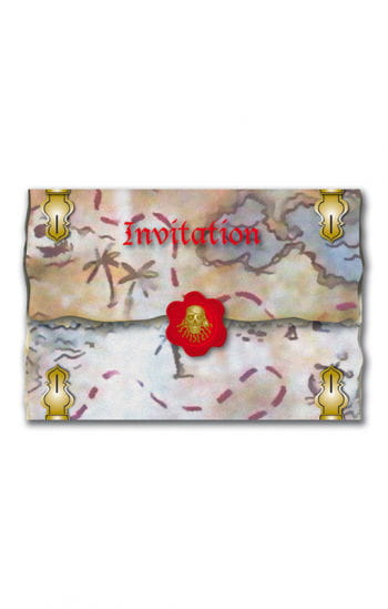 Red Pirate Invitation Cards