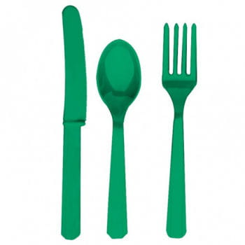 Green Cutlery 24-Piece