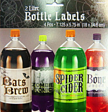 Bottle Labels 4 PCS Set