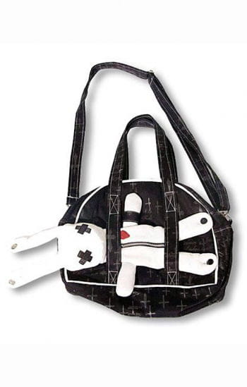 Evil Bunny Gothic Bag Black White