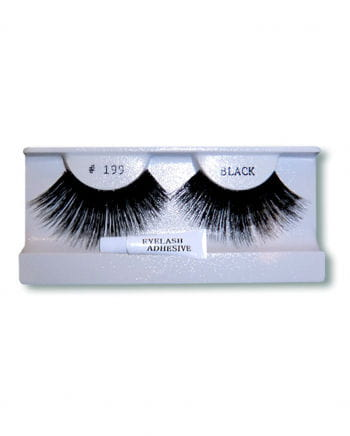 Extra long human hair lashes black