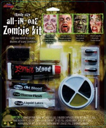 Family Zombie Make up Set