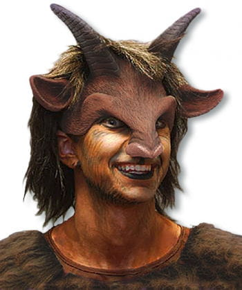 Faun Half Mask with Wig