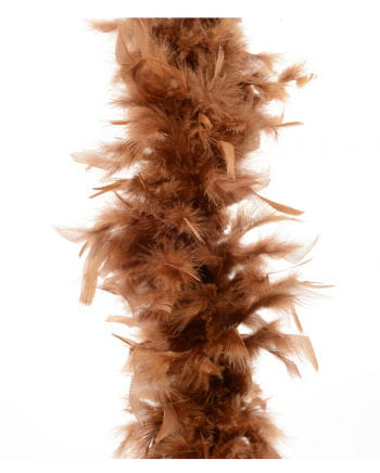Feather Boa approx 185 cm brown