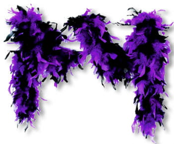 Feather Boa Deluxe Purple Black