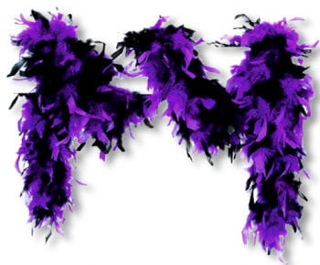 Feather Boa Black Purple